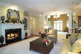 opulent living room with fireplace stock photo picture and