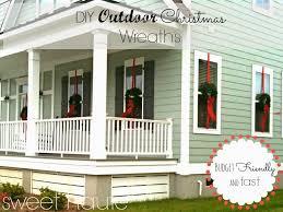 window wreaths outdoor christmas wreaths tutorial sweethaute
