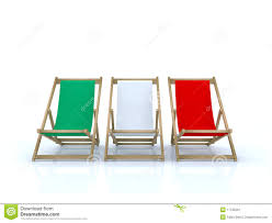 Beach Armchair Wood Beach Chairs Italian Flag Stock Illustration Image 17125291
