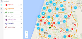 Where Is Israel On The Map Israel Startup Map