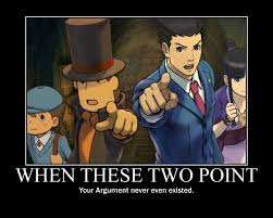 Professor Layton Meme - professor layton vs ace attorney objection by emmyaltava1 on deviantart