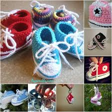 pattern crochet converse slippers free pattern adorable crocheted baby converse diy crafts