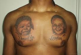 45 portrait tattoos on chest