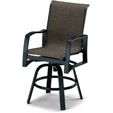 Swivel Outdoor Patio Chairs by Telescope Casual Momentum Sling Patio Counter Height Swivel Bar