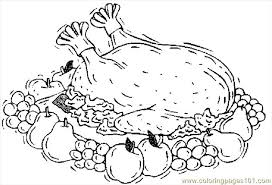 turkey cooked 14 coloring page free thanksgiving day coloring