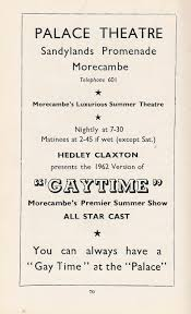gaytime u0027 at the palace theatre morecambe 1962 morecambe