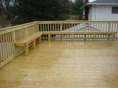 adding a bench seat to an existing deck diy pinterest bench