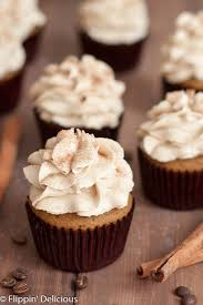 gluten free pumpkin spice latte cupcakes with coffee frosting
