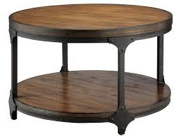cottage style round coffee tables great stunning round industrial coffee table style within designs