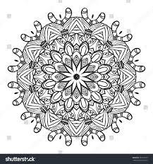 coloring page mandala vector art stock vector 381273679