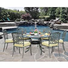 7pc Patio Dining Set Sunjoy Poppy 7pc Patio Dining Set With Table Shop Your Way