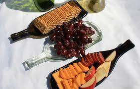 melted wine bottle platter christmas gift ideas for wine connoisseurs trendy new designers