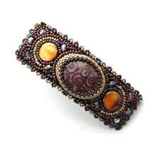 hair barettes 58 best beaded barrettes images on barrette hair