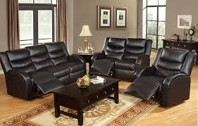 Reclining Sofas Leather Black Leather Recliner Sofa