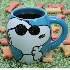 Cool Coffe Mugs Snoopy Joe Cool Curved Blue Peanuts Mug Cartoon Coffee Mugs
