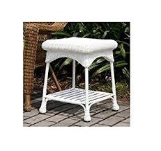 White Wicker Patio Chairs Amazon Com Wicker Lane Outdoor White Wicker Patio Furniture End