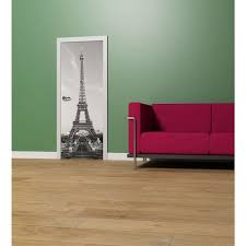 ideal decor 79 in x 34 in white horse wall mural dm514 the w la tour eiffel wall