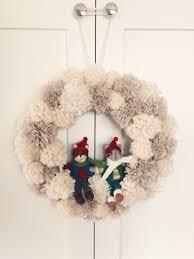 winter wonderland pom pom wreath pom pom wreath wreaths and winter