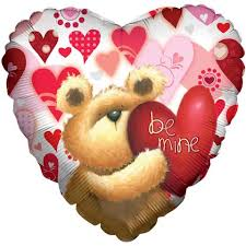 be mine teddy be mine teddy heart balloon bouquet jeckaroonie balloons