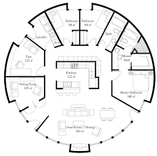 3 Bedroom Floor Plans by Plan Number Dl5006 Floor Area 1 964 Square Feet Diameter 50 U0027 3