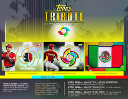 Country Flags Patches 2013 Topps Tribute World Baseball Classic Edition Go Gts