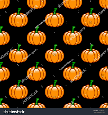 orange black halloween background seamless halloween pattern orange pumpkins over stock illustration