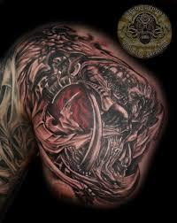 biomech skull horror tat by 2face tattoo on deviantart