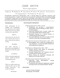 Resume Examples For Kids by Freelance Photographer Resume