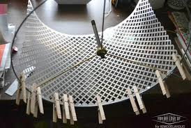 remodelaholic decorative punched metal ceiling light shade