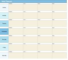 printable blank meal planner download weekly meal planner excel sheet meal planner form xls