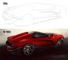 ferrari sketch artstation ferrari close to f12 trs yasid oozeear
