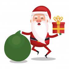 christmas santa claus merry christmas santa claus character vector premium