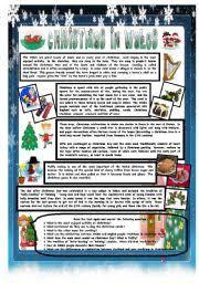 english teaching worksheets christmas around the world