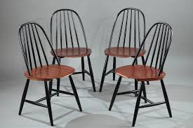 4 scandinavian chairs manufactured by haga fors sweden