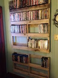 wooden pallet shelves for dvd storage good dvd storage ideas