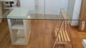 bureau verre blanc bureau en verre blanc uteyo