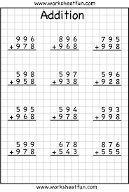 math worksheets addition with regrouping worksheets