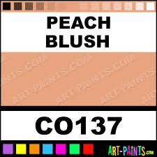 peach blush bisque ceramic porcelain paints co137 peach blush