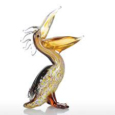 best and cheap yellow tooarts cormorant glass sculpture home decor