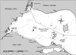 Lake Erie Map Nitrogen Constrains The Growth Of Late Summer Cyanobacterial