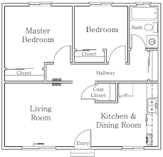 plan of two bedroom flat