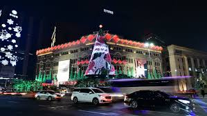 seoul south korea december 31 light of christmas the