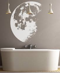Easy Apply Wallpaper by Amazon Com Stickerbrand Home Décor Vinyl Wall Art Moon Wall