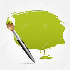 Green Paint by Paint Brush Green Background Vector Illustration Royalty Free