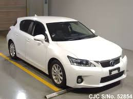 lexus ct200h white 2011 lexus ct200h white for sale stock no 52854 japanese used