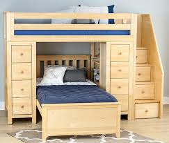 What Is Twin Size Bed by Kimmel Natural Twin Size Stairway Storage Loft Bed