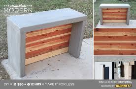 Diy Outdoor Bar Table Modern Ep55 Concrete Bar