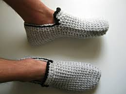 mens bedroom shoes gift for men crochet slippers mens slippers house shoes
