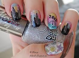 phd nails winter nail art challenge new years eve