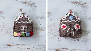 crochet gingerbread house ornament sewrella